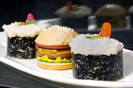 Sushi versus hamburger